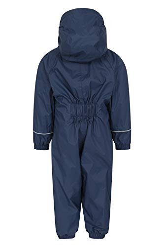 Mountain Warehouse Spright Printed Rain Suit - Breathable Suit, Waterproof Coat, Quick Dry, Taped Seams Kids Raincoat, Fleece Lined - for Travelling Navy 2-3 Years