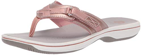 Clarks Women's Breeze Sea Flip-Flop Rose Gold 060 M US