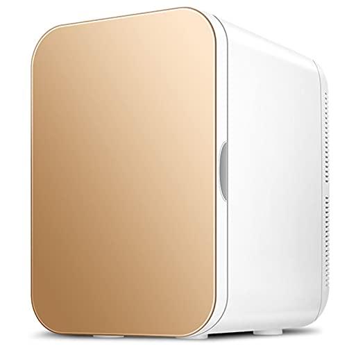Mini Refrigerador De 20 litros/Portátil con Sistema Termoeléctrico De CA/CC, Enfriador Y Calentador para Automóviles, Hogares, Oficinas Y Dormitorios,Oro