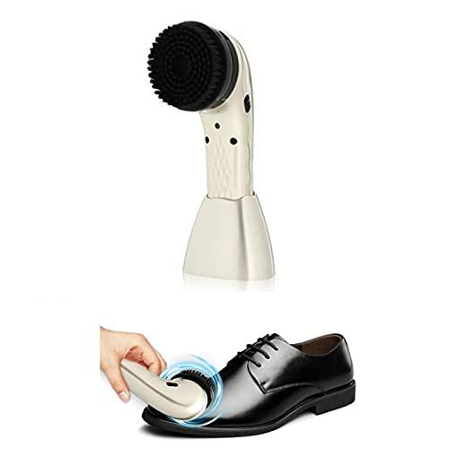 KEYT Limpiador de Zapatos eléctrico Kit Limpiador de Zapatos Limpiador de Polvo portátil inalámbrico de Cuidado de Cuero Recargable Mini Limpiador de Zapatos portátil con 6 Cabezas de Cepillo