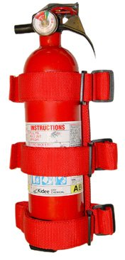 Rugged Ridge 13305.20 Red Roll Bar Fire Extinguisher Holder
