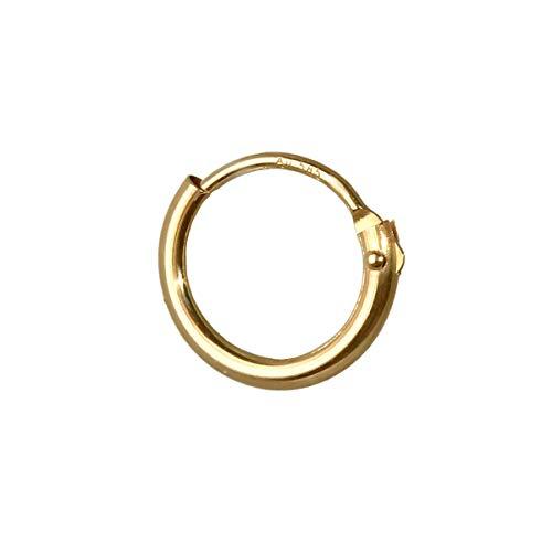 NKlaus 585er 14 Karat echt GOLD Einzel HERREN Klappcreole Ohrring Ohrschmuck Ohrhänger 9,0mm 1752