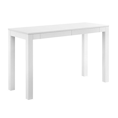 Ameriwood Home Parsons Xl Desk with 2 Drawers, White