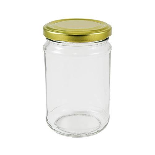 Packungen von 12Oz Marmeladengläser (314MLS.) inkl. Deckel goldfarben, Auswahl von vier Packungen