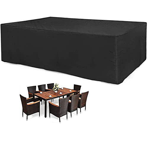 the furniture cove patio furniture sets CHLDDHC Outdoor Garden Table Covers Rectangular/Square Furniture Protector 210D Heavy Duty Oxford Fabric Patio Furniture Covers WaterproofWindproofAnti-UV Rattan Furniture Cover 150x150x75cm