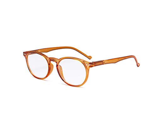 Eyekepper gafas de lectura Ovalo Redondo bisagras de resorte marco naranja +2.25