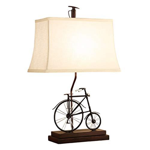 Lampe de table salon décoration chambre lampe de chevet bureau nuit lumière tissu ombre rétro décoration de vélo