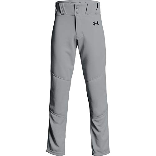 Under Armour Boys' Utility Relaxed Baseball Pants , Baseball Gray (080)/Black , Youth X-Large