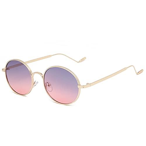 Occhiali da Sole Sunglasses Occhiali da Sole Rotondi Piccoli Punk da Donna personalità Vintage Occhiali da Sole Neri Rossi alla Moda per Occhiali da Vista Femminili Mujer