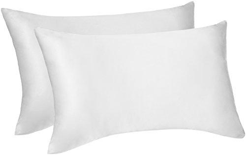 Pinzon - Federa copricuscino double-face in seta di gelso e cotone - 50x75cmx2, Bianco