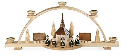 Authentic German Erzgebirge Handcraft Candle Arch - Carolers - 47 cm / 19 inch - Müller Kleinkunst