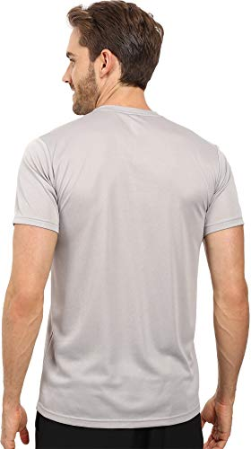 adidas Men's Training Essentials Tech V-Neck Tee, White/White/Vista Grey, X-Large