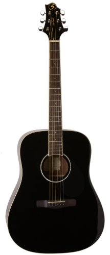 Greg Bennett Design Regency D2 Blk Dreadnought Acoustic Guitar, Black