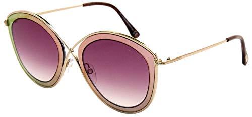 Tom Ford Unisex-Erwachsene FT0604 77T 55 Sonnenbrille, Pink (Fucsia)