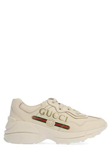 Gucci Luxury Fashion Ragazza 585089DRW009522 Beige Pelle Sneakers | Autunno-Inverno 19