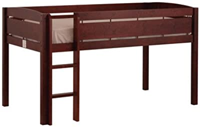 Whistler Junior Twin Low Loft Bed with Built-In Ladder Finish: Espresso