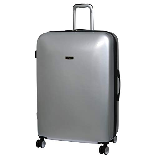 it luggage Sheen 8 Wheel Hard Shell Single Expander Suitcase, 80 cm, 161 L, Metallic Silver