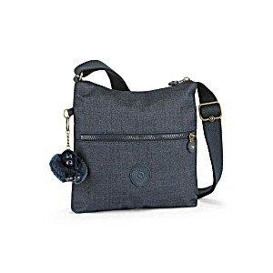 Kipling ZAMOR–Handtasche, Unisex Erwachsene, Blau–(Cotton True Blu)