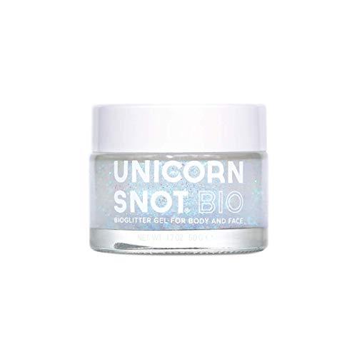 Unicorn Snot Biodegradable Holographic Body Glitter Gel for Body, Face, Hair - Halloween Makeup - Vegan & Cruelty Free - 1.7 oz Bio Silver
