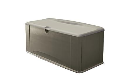 Rubbermaid FG5E3900OLVSS Deck Box, Extra Large, Sandstone