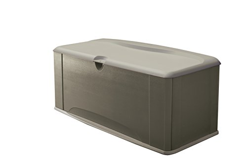 Rubbermaid FG5E3900OLVSS Deck Box, Extra Large, Sandstone