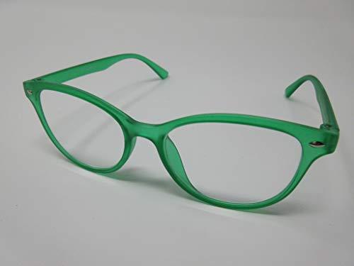 Schildgen Einfache große Lesebrille +1,5 grün für DAMEN & HERREN Fertigbrille Lesehilfe