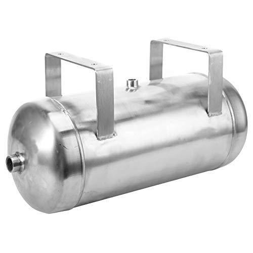 Tanque de bocina de aire, tanque de amortiguación de vacío de trefilado de alambre Tanque de depósito de aire de 3 puertos, acero inoxidable de alta presión para sistema de bocina de aire