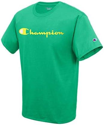 Camiseta Champion de Manga Corta para Hombre en Color Verde
