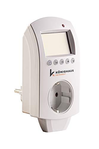 Könighaus Fern Infrarotheizung + Thermostat und App mit Smart Home Lösung Temperatur und Programmierung über Handy app steuerbar ✓GS Tüv (Nur Smarthome Thermostat)
