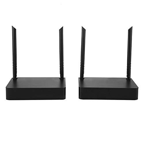 Cuque Receptor de transmisor inalámbrico, transmisor de Video, Receptor de transmisor de Video ABS Negro 110-240V para el hogar(European regulations)