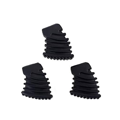 HEALLILY drum gummifüße für drum hardware beckenständer rack halterung schlagzeug teile größe s 3 stücke (schwarz)