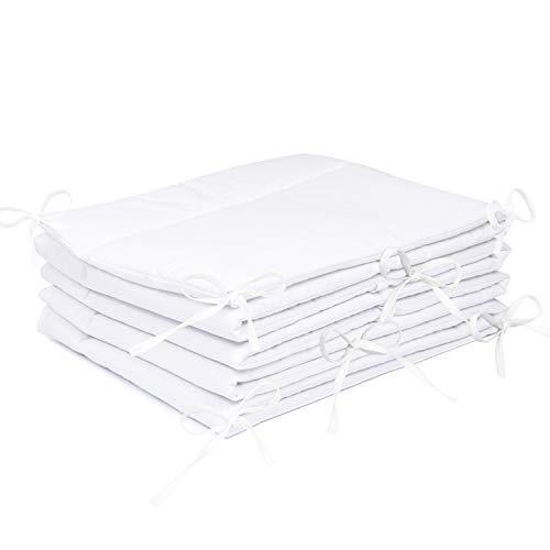Amilian® - Protector de cabeza para cuna, 420 x 30 cm, 360 x 30 cm, 180 x 30 cm, protector del bordes para bebés, en color blanco Talla:360x30cm