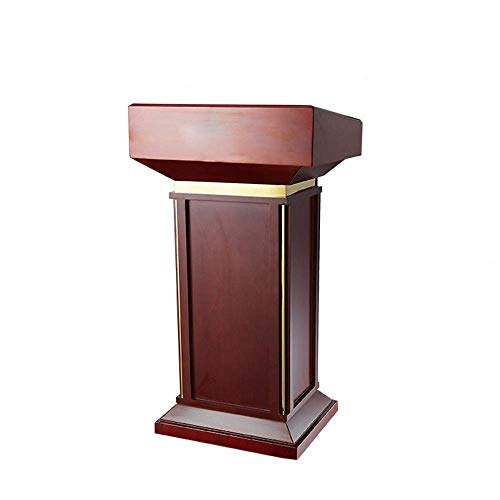 NBVCX Life Decoration Lectern Conference Room Podium Solid Wood Ceremonies Information Desk Reception Master Desk for Hotel Podiums (Color : Red Size : One Size)