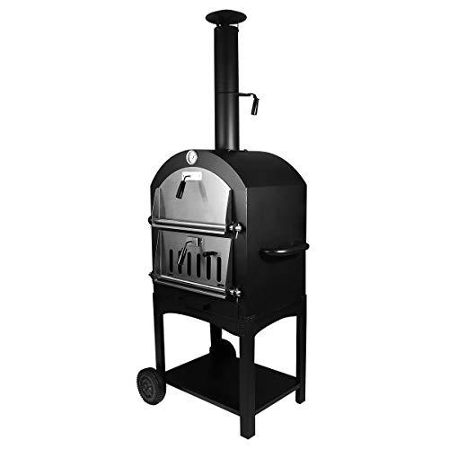 Tengchang Outdoor Pizza Oven Charcoal Wood Burning Steel Fire Patio Cooker
