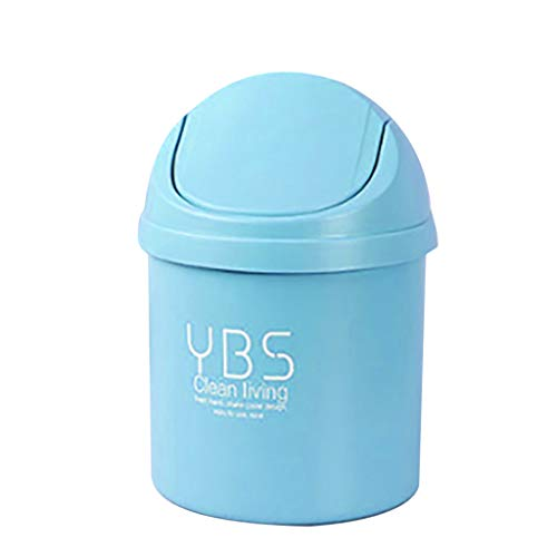 FORUU Cute Mini Creative Trash Can with Lit,Portable Household Trash Can,Debris Sorting Trash,Waste Basket,Small Trash Can,Best for Home Living Room Office Kitchen
