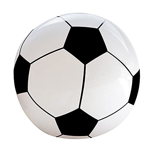 Widmann 01451 - Aufblasbarer Fußball, 25 cm, Wasserball, Pool Spielzeug, Party Mitbringsel