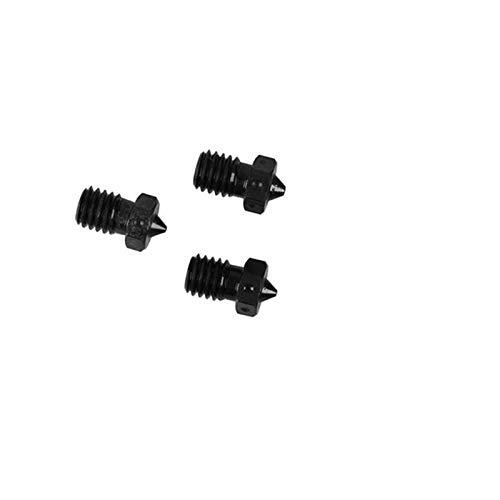 L-Yune,bolt 3pcs Hardened Steel V6 Nozzle For High Temperature Printing For PEI PEEK Fiber Filament For E3D Titan For Aero 3D Printer Part (Size : 0.6mm)