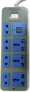 وصلة كهرباء - 7 منافذ مع منفذ USB