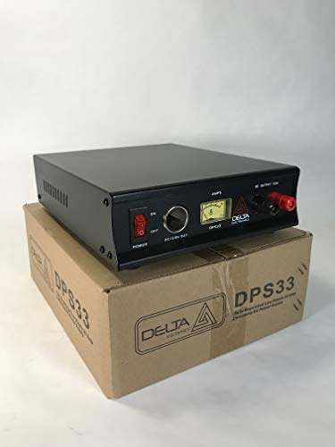Delta DPS33 33 Amp 12-13.8c AC/DC Power Supply w/Amp Meter CB HAM Radio