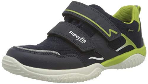 Superfit Jungen Storm Sneaker, Blau Hellgrün 8020, 33 EU