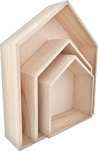 Graine Créative houten plank, 3 stuks