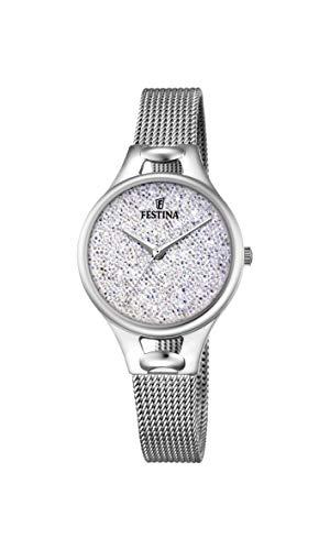 Festina Damen Analog Quarz Uhr mit Edelstahl Armband F20331/1