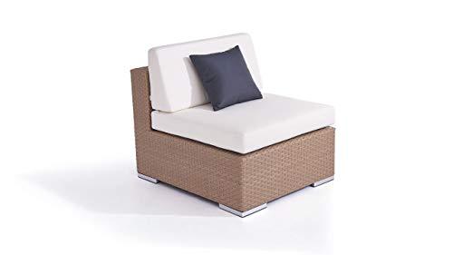 talfa Polyrattan Lounge Mittelsofa in Karamell - Cube Mittelsofa