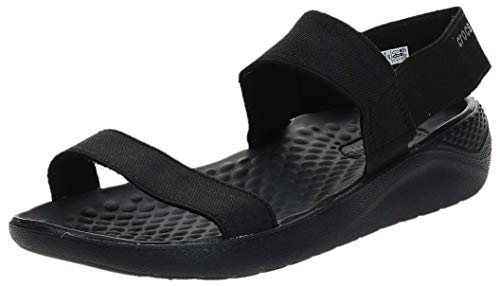Crocs Women's LiteRide Sandal, Black/Black, W4