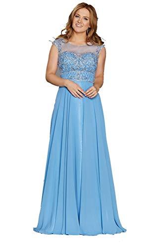 Tiffanys Illusie Gala Korenbloem Tori Gaas top Jurk met Kralen
