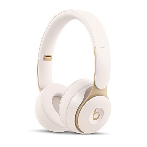Beats Solo Pro Kabellose Bluetooth On-Ear Kopfhörer mit Noise-Cancelling – Apple H1 Chip, Bluetooth der Klasse 1, aktives Noise-Cancelling, Transparenzmodus, 22 Stunden Wiedergabe – Elfenbeinweiß