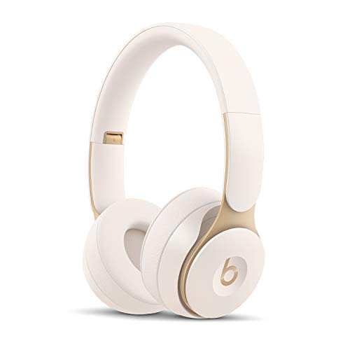 Beats Solo Pro WirelessNoise Cancelling On-Ear Headphones - Apple H1 Headphone Chip, Class 1Bluetooth, Active Noise Cancelling, Transparency, 22 Hours Of Listening Time- Ivory