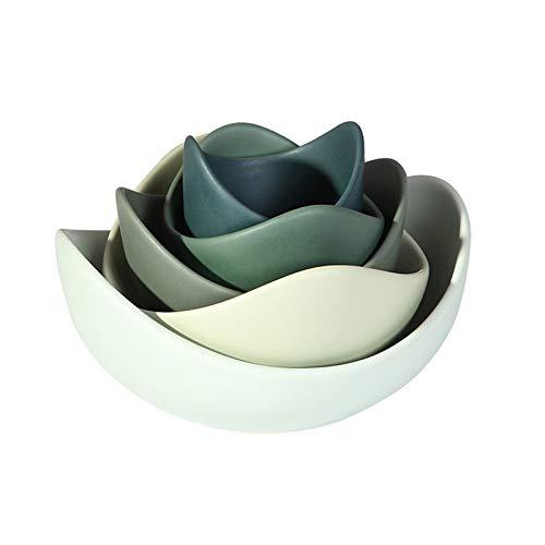 Ensaladera Lotus tazón de cerámica Platos Platos Establece creativo moderno de la ensalada de fruta de la placa de cena...