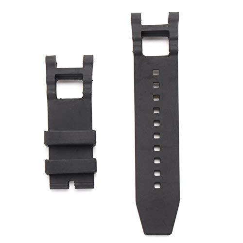 ExcLent 28mm Rubber Black Watch Band für Invicta Subaqua Noma mit Reparaturwerkzeug