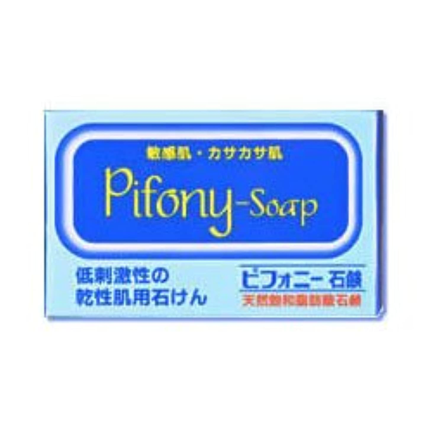 拒絶するタイマーもろい【ノーエチ薬品】ピフォニー石鹸 100g ×3個セット